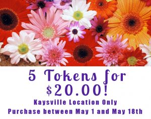 Buy 5 carwash tokens for $20.00 this is a link